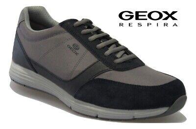 Scarpe da uomo GEOX sneakers estive traspiranti camoscio casual comode U927X6A | eBay