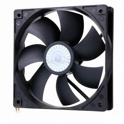 3pin 25T CoolerMaster 1200rpm 12VDC 120mm BLUE LED SLEEVE FAN