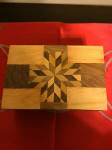 Details About Wooden Box Geometric Inlaid 4x6 Wiccan Pagan Witchcraft Supply Ritual Altar