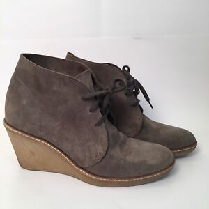 4809922112fe J Crew Olive Green Suede Macalister Wedge Bootie Size 8 Gum Sole ...