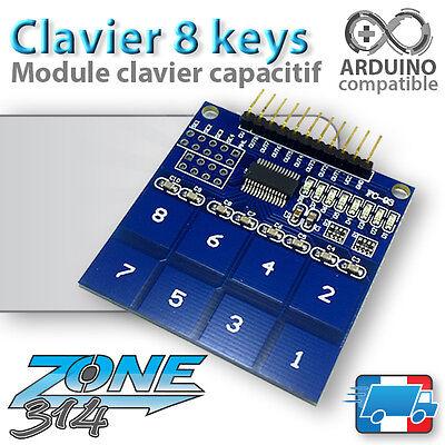 Module Arduino clavier Tactile 8 touches - TTP226 ( Digital Touch Sensor )