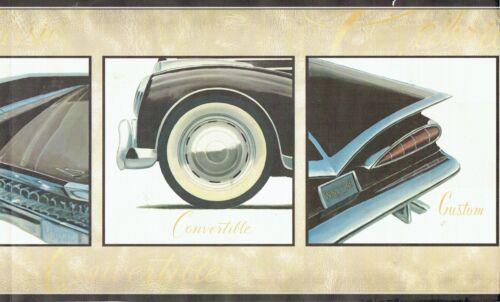 OLD AMERICAN CAR BLACK IN FRAMES CUSTOM BUILT AND CLASSIC Wallpaper bordeR Wall