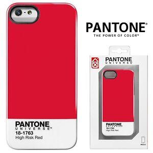 Détails sur Pantone Universe Véritable Coque arrière pour Apple iPhone 5 5 S SE Cover Slim New Red- afficher le titre d'origine