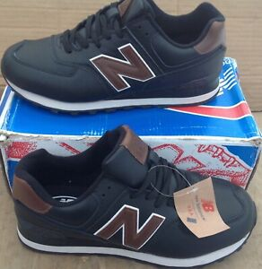 Details about New Balance 574. Leather is natural . The New. Black. EUR 46,US 9.5
