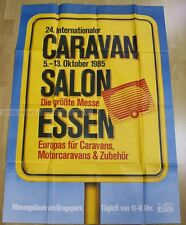GERMAN BEER XXL EXHIBITION POSTER 1985 - 24. TRAILER RV CARAVAN EXHIBITION