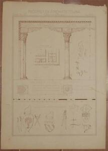 RICORDI-DI-ARCHITETTURA-PALAZZO-DUCALE-VENEZIA-VENICE-VENETO-ANTICA-LOGGIA-1800