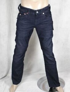 discount coupon new buy good Details about True Religion Jeans Men's Ricky DK Navy micro corduroy pants  MCB859K32