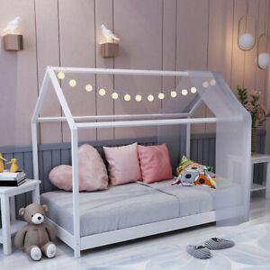 Cabin Single Bed House Frame White Kids Children Toddler ...