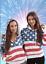 American USA   Flag  Hoodie Women Juniors . Pullover