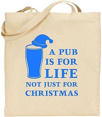 Ein Pub Is For Life Groß Baumwolltasche Einkaufstasche Geheim