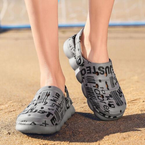 Mens Womens Clogs Sandals Slip on Garden Hospital Slider Mules Work Beach Shoes