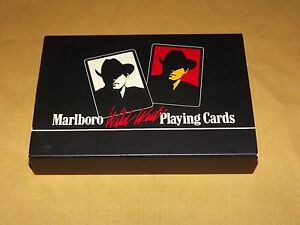 VINTAGE TOBACCO CIGARETTES 1991 MARLBORO WILD WEST PLAYING CARDS