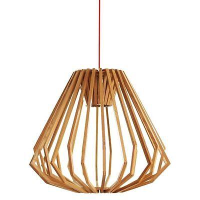 NEW Amonson Lighting Replica Liora Wood Squat Pendant Light