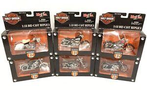 6x-Harley-Davidson-Maisto-1-18-Die-Cast-Motorcycle-Model-Complete-Series-12-HD