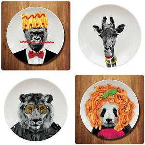 Image is loading Novelty-Wild-Dining-Dinner-Plates-Funny-Animal-Party-  sc 1 st  eBay & Novelty Wild Dining Dinner Plates. Funny Animal Party Plate Lion ...