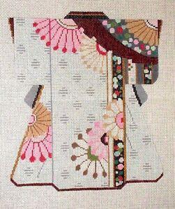 MZC-Oriental-Kimono-Pink-Beige-Floral-HP-Hand-Painted-Needlepoint-Canvas