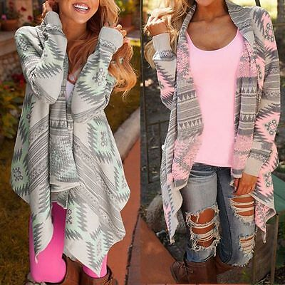 Boho Women Long Sleeve Irregular Knitted Cardigan Tops Baggy Cape Coat Poncho