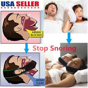 Snore Stop Belt Anti Snoring Cpap Chin Strap Sleep Apnea Jaw Solution TMJ 17874021604