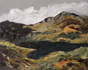 Welsh-Mountains-ORIGINAL-LANDSCAPE-PAINTING-Snowdonia-Steve-Greaves-Art-Kyffin