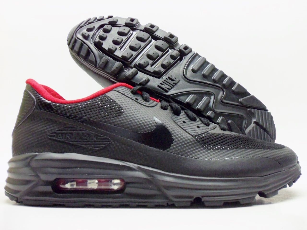 buy popular c6ee0 a1809 ... buy nike air max id 90 lunar hyperfuse premium id max black red size  mens 10