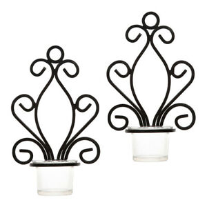 6Pcs-Antique-Iron-Wall-Mounted-Sconce-Tealight-Candle-Holder-Candlestick