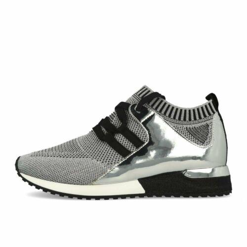 La Strada 1806936 Sneaker Silver Knitted Metallic Schuhe Sneaker Silber Schwarz