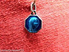 Jolie ancienne médaille émaillée bleue, Sainte Marie, Soubirous