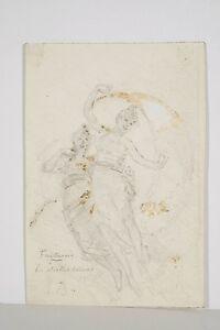 Dessin-original-Vers-1900-Fantaisie-les-Etoiles-Soeurs-monogramme-RB-Art-Nouveau