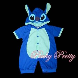 Stitch-Baby-Boy-Fancy-Party-Costume-One-Piece-Suit-Romper-Outfit-Age-9m-12m-026