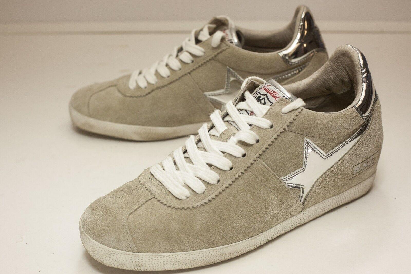 Ash US 8 Tan Silver Lace Up Flat Women's EUR 39