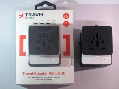 Adaptador de viaje/fastcharger Universal UK/U.S./UE Enchufe 3USB Typec MULTIPIN en todo el mundo