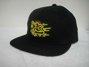2b649d05ae5 NWT COACH F87437 Keith Haring Flat Brim Hat Cap Cotton Blend One ...