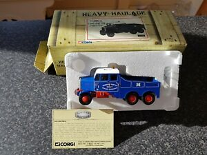 Corgi Cc11102 Constructeur Scammell Parker Bent Ltd N ° Ed 0880 De 1800