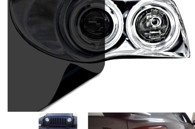 12 x 24 2-Roll Pack VViViD Dark Black Headlight Taillight Tint Air-Release Vinyl Wrap Film Roll