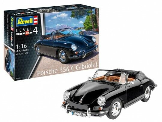 Porsche 356 Convertible Plastic Kit 1 16 Model 07043 REVELL