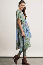 PLUS SIZE 1XL/2XL UMGEE Light BLUE Kimono Maxi Duster/Cardi/Cover Up BHCS