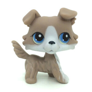 Littlest Pet Shop Collie Dog Grey And White Figure Toy 67 Lps Ebay