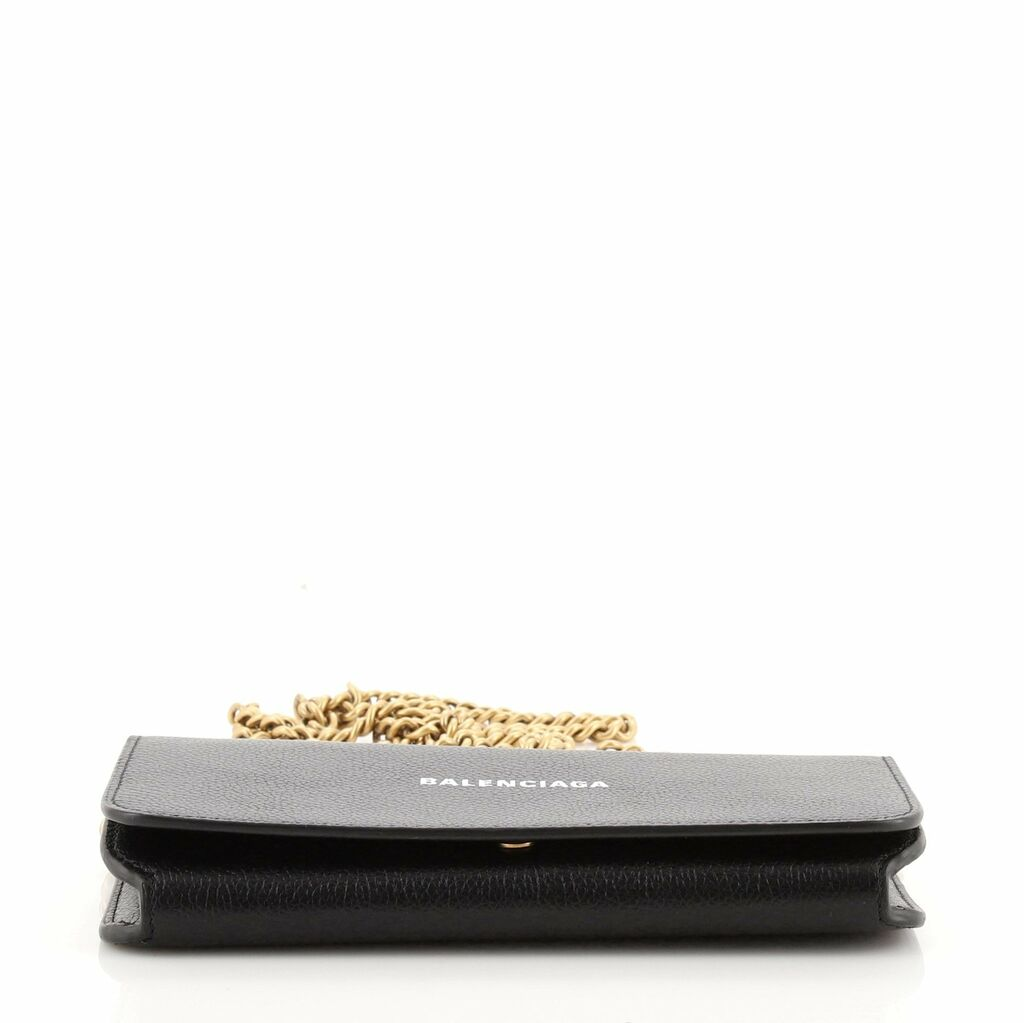 Balenciaga Everyday Continental Wallet on Chain Leather    eBay