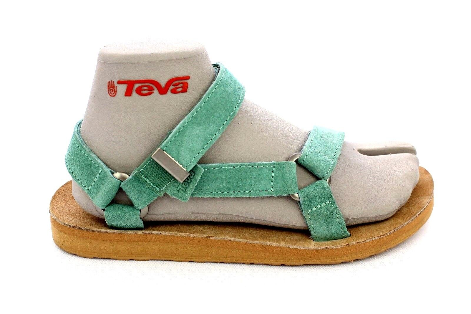 TEVA ORIGINAL UNIVERSAL SUEDE PASTEL MINT GREEN  SANDALS SIZE 9 US
