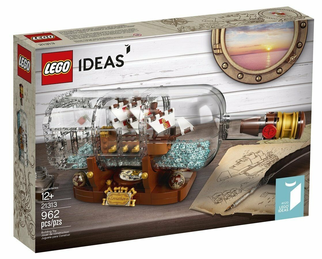 LEGO 21313 - Ideas 20 - Nave in Bottiglia - Ship in a Bottle - NUOVO  NSF3