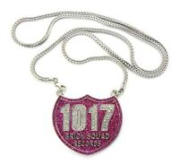 Iced Out 1017 Brick Squad Pendant-1 & 36 Franco Chain