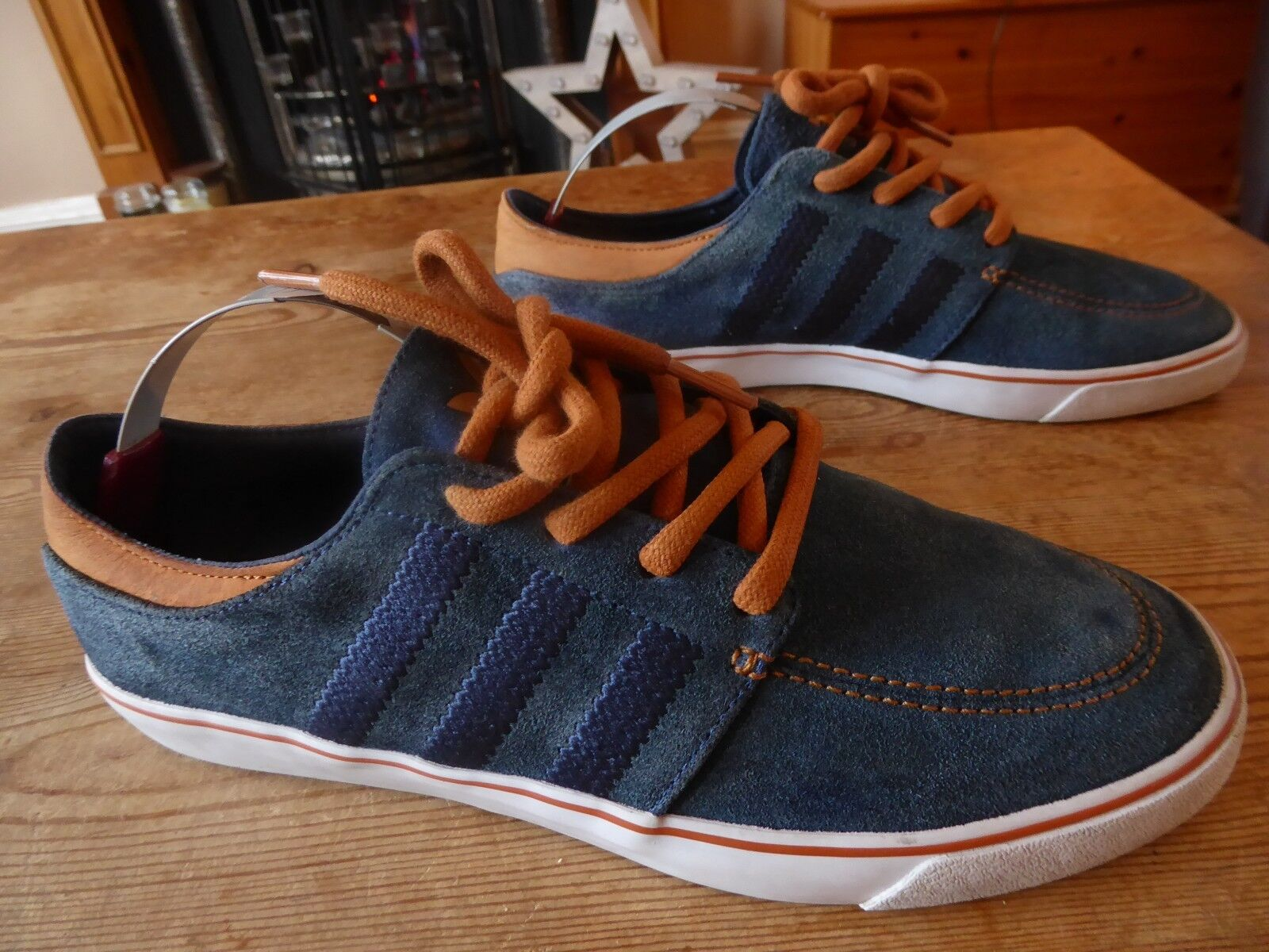 Mens ADIDAS court deck vulc - size uk 8 ( 2011 ) great condition