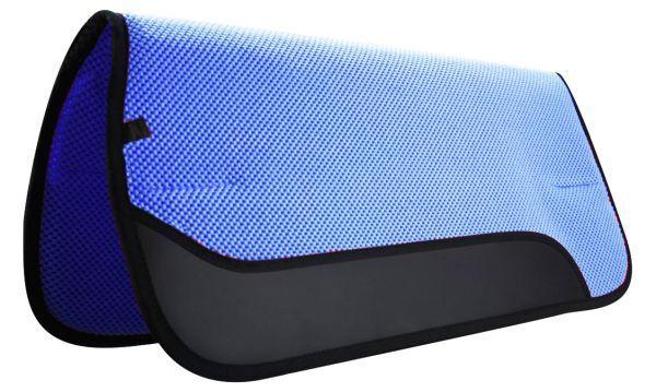 Showhomme Bleu 81.3cmx76.2cm Western Gaufré Perforé Selle Tapis   Nouveau