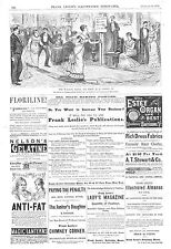 The Walking Mania and What it is Coming To   -  1879  Antique Print