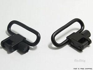 NEW-Gun-or-Rifle-Quick-Detach-1-25-034-1-1-4-034-Sling-Swivel-Set-2pcs-High-Quality