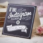 Ginger Ray If You Instagram Wedding Sign Vintage Chalkboard