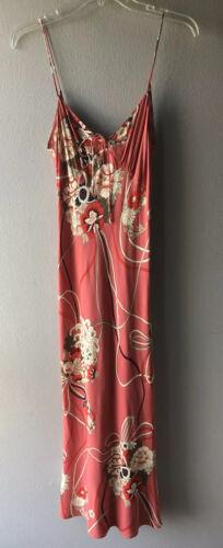 Zara Woman Floral Print Slip Dress Low Back MIDI S