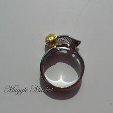 Beautiful silver snitch quidditch Ring. Ron/Hermione/harry/Dumbledore/magical