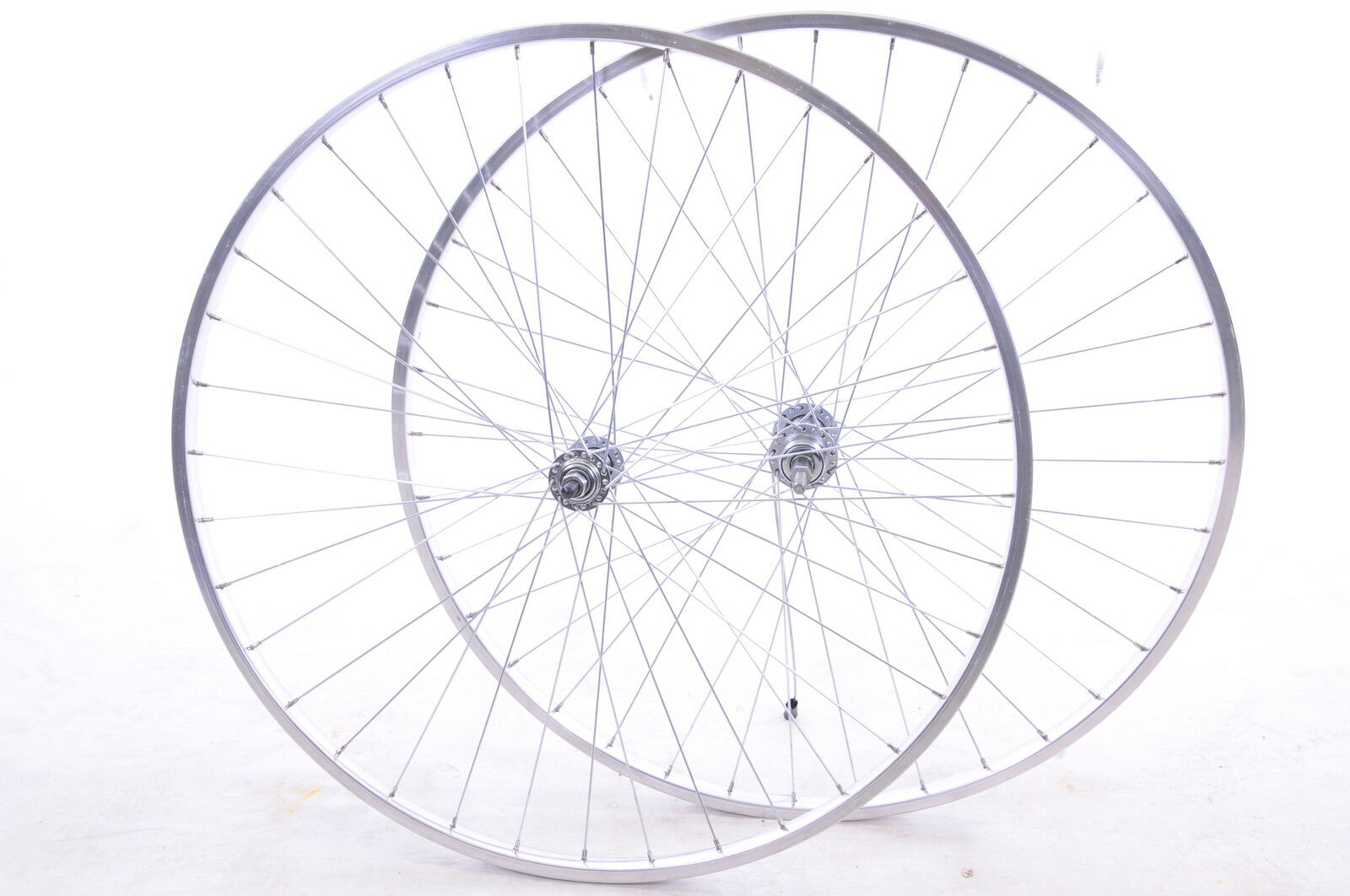 "RACER ROAD BIKE 27""x1 1 4"" POLISHED ALLOY  CHROME LOOK "" MULTI-SPEED WHEEL SET"