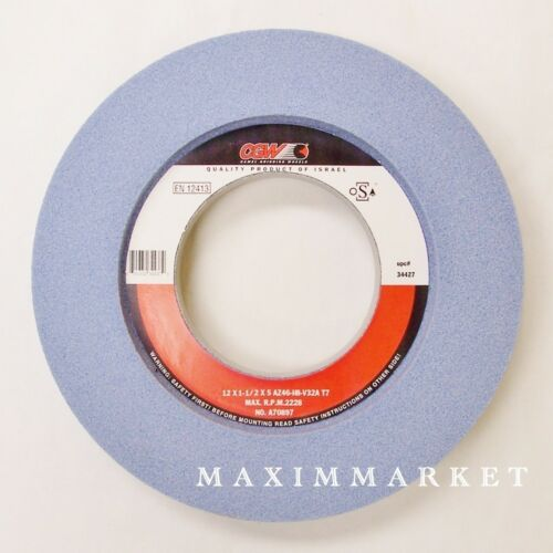 "Choice of Grit Grinding Wheel 12/"" x 1-1//2/"" X 5/"" CGW Premium Blue AO T-5"